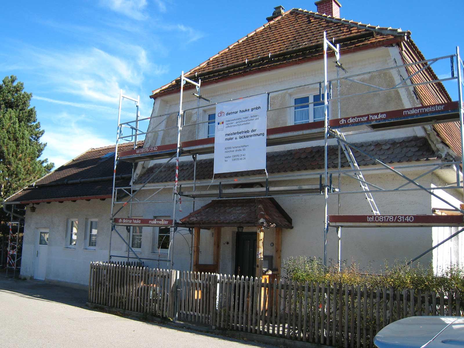 Haus in der Bahnhofstraße Hohenschäftlarn (vorher)